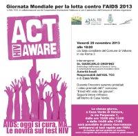 29 Novembre: Giornata Mondiale per la lotta contro l'AIDS 2013