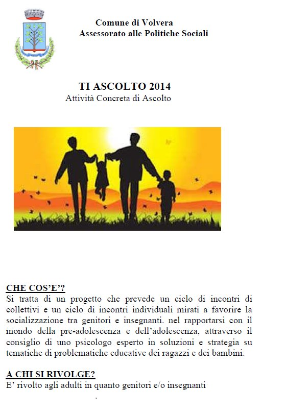 Sportello Ti Ascolto 2014