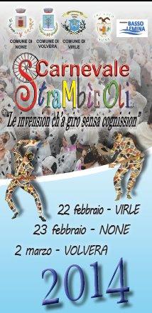 """2 Marzo a Volvera: """"Carnevale Strambicoli 2014"""" vedi tutti gli appuntamenti!"""