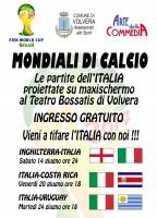 Locandina Mondiali Calcio 2014 Teatro Bossatis