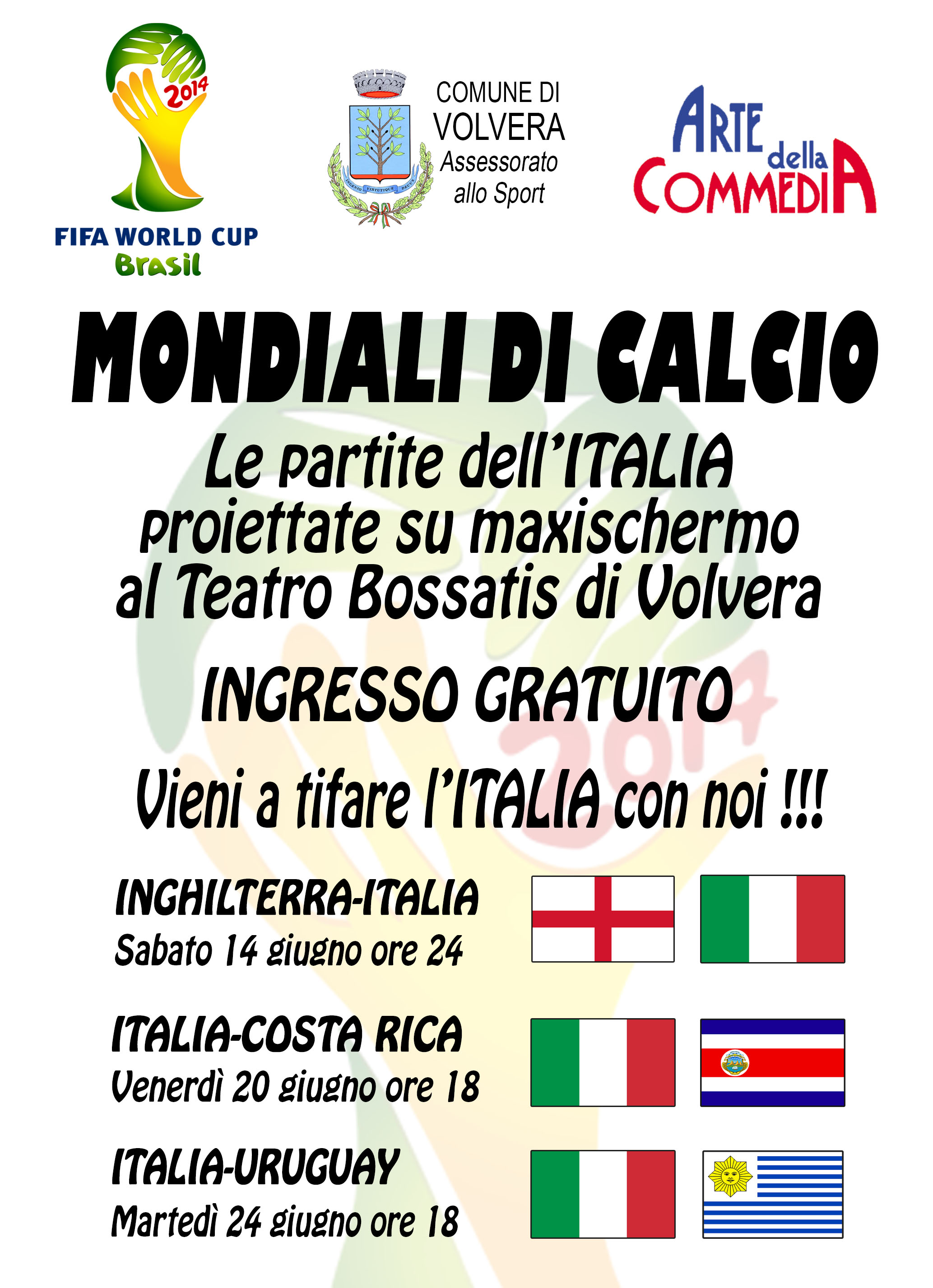 I Mondiali di Calcio visti insieme a Teatro Bossatis!