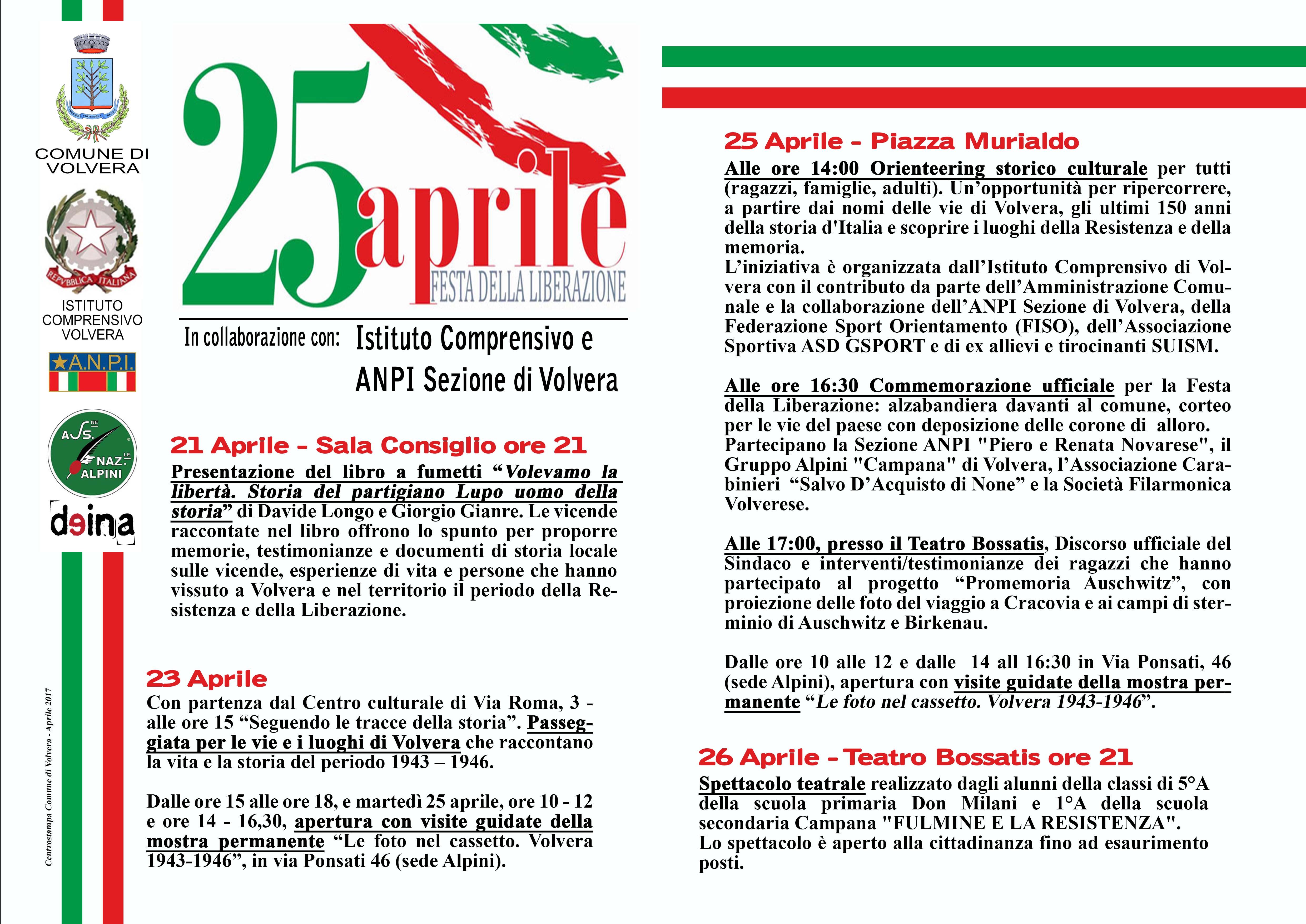Eventi 25 aprile – Festa della Liberazione
