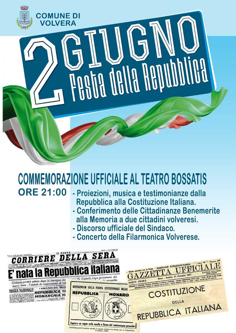 Festa della Repubblica - Comune di Volvera