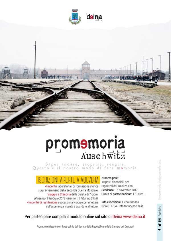 Promemoria_Auschwitz: Iscrizioni aperte a Volvera