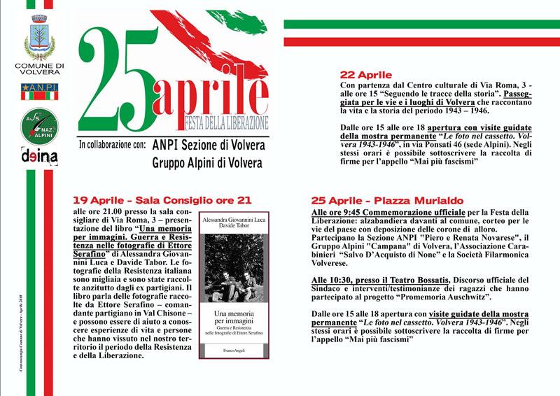 25 Aprile – Eventi Festa della Liberazione