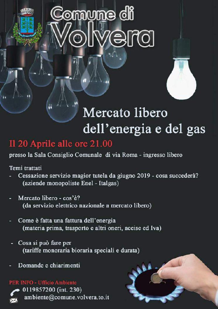 """Serata informativa """"Mercato libero dell'Energia e del Gas"""""""