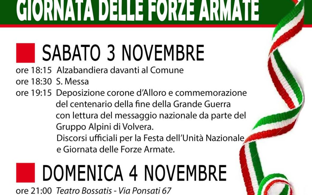 Festa dell'unità nazionale e Giornata delle Forze Armate