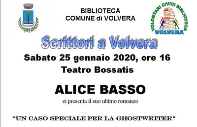 Alice Basso – Scrittori a Volvera