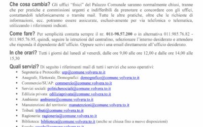 NUOVE MODALITA' DI ACCESSO AL COMUNE